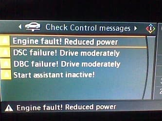 BMW E60 E70 E90 Ошибки DSC Failure, DBC Failure , Flat Tyre Monitor failure, Start Assistant failure!